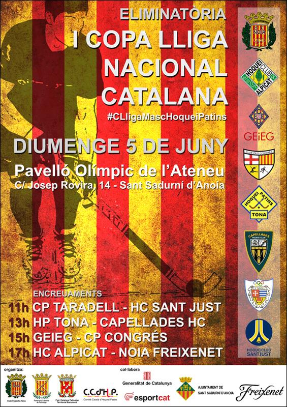 Cartell I Copa Lliga Nacional Catalana